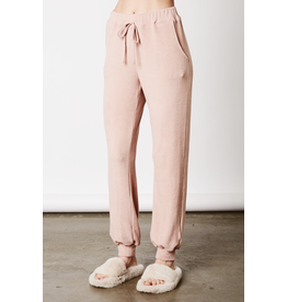 NIA NIA super soft ankle-length hacci knit lounger jogger