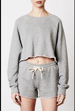NIA NIA vintage crop raglan sweatshirt