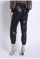 flight lux faux leather joggers