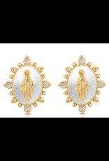joy dravecky lady lourdes stud earrings