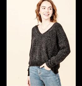 flight lux chenile v-neck sweater