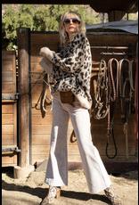 flight lux pol leopard pullover sweater