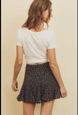 flight lux flounce skirt floral print