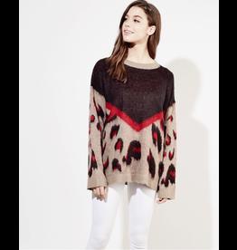 flight lux leopard colorbock sweater
