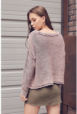 flight lux ribbed brushed knit sweater