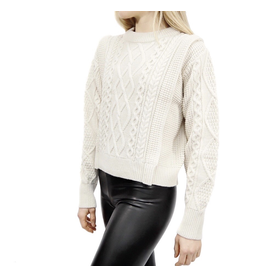 flight lux rd style chunky sweater with flap detail