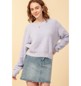 flight lux fuzzy pullover sweater