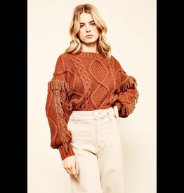 line & dot line and dot jasper fringe sweater