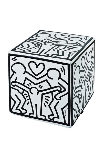 "KEITH HARING ""HAPPY FAMILY"" OTTOMAN"