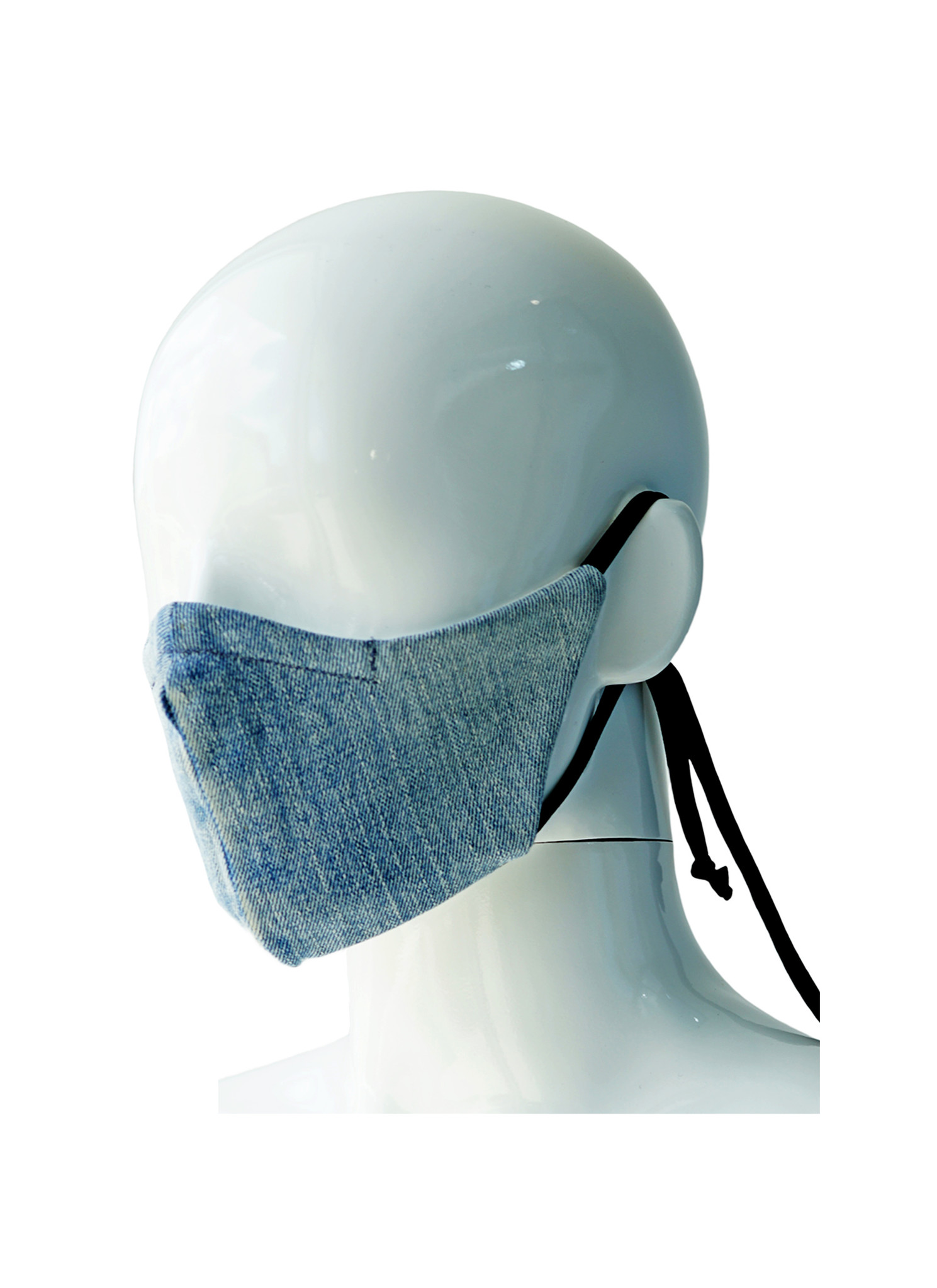 LAST PRGRM REVERSIBLE REPURPOSED DSQUARED2 DENIM MASK-2