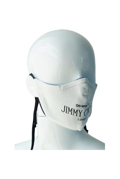 "REVERSIBLE REPURPOSED ""OFF WHITE"" X JIMMY CHOO MASK"