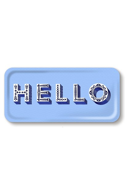 """HELLO"" SERVING TRAY"