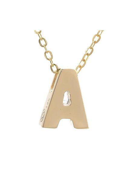 MMJ 14K INITIAL NECKLACE