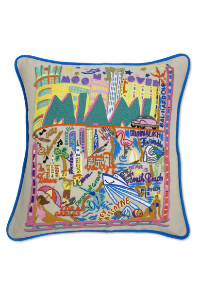 MIAMI MAP PILLOW