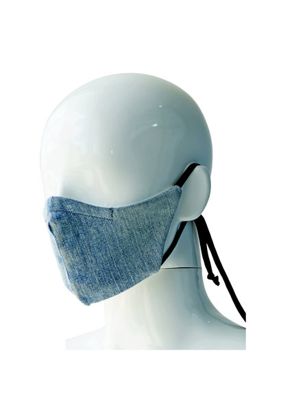 REPURPOSED MASK MONCLER CENTER LOGO WHITE