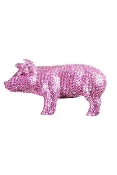 PINK CRYSTAL PIGGY BANK