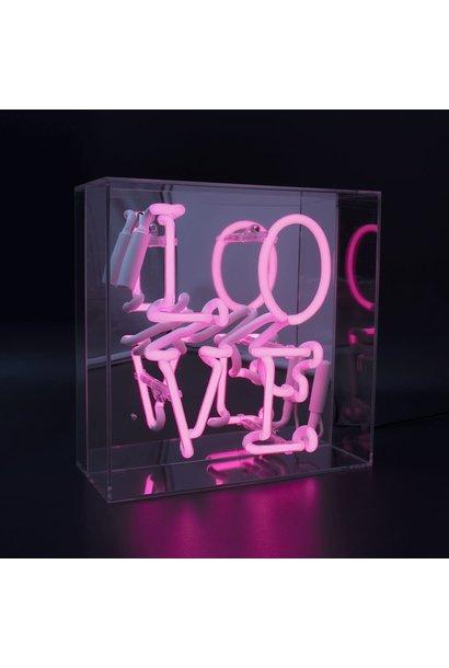 """LOVE"" NEONLIGHT ART ACRYLIC BOX"
