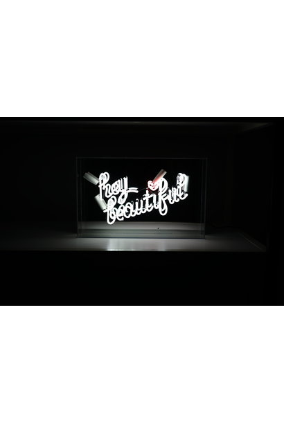 HEY BEAUTIFUL NEONLIGHT ACRYLIC BOX