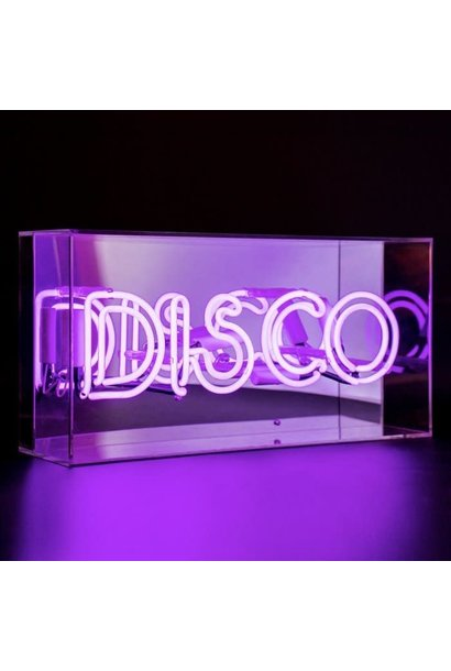 DISCO NEONLIGHT ACRYLIC BOX