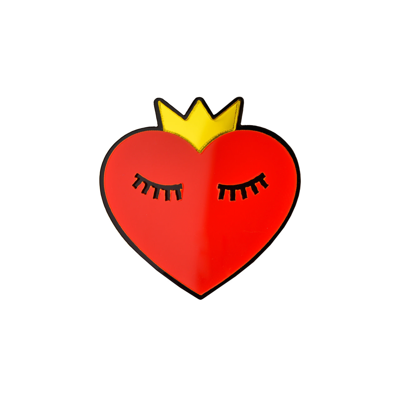 M24 HEART WITH CROWN PIN-1