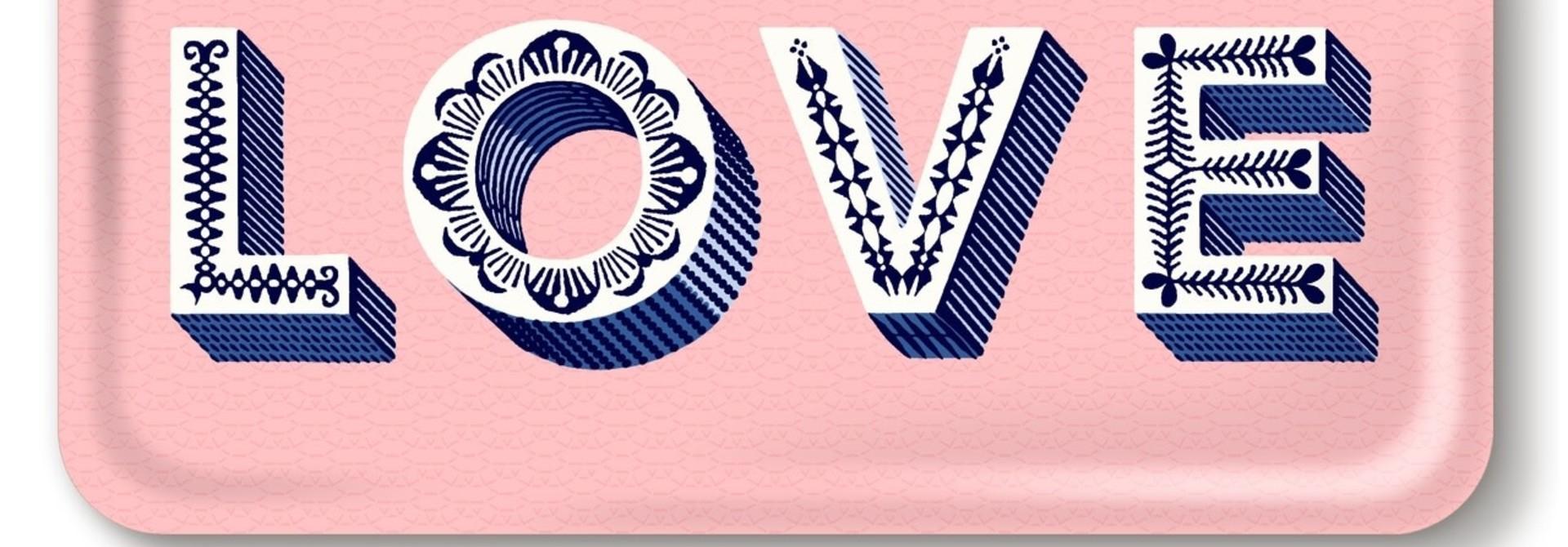 M24 TRAY LOVE, PINK