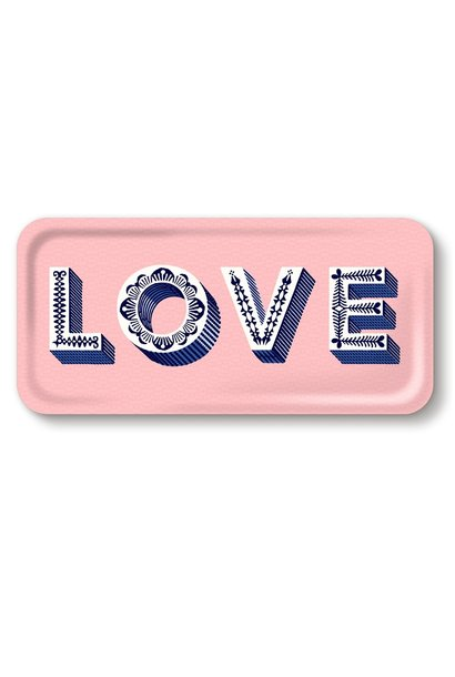 "SERVING ""LOVE"" TRAY, PINK"