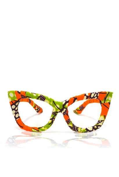 EARTHA ORANGE BUTTERFLY EYEWEAR