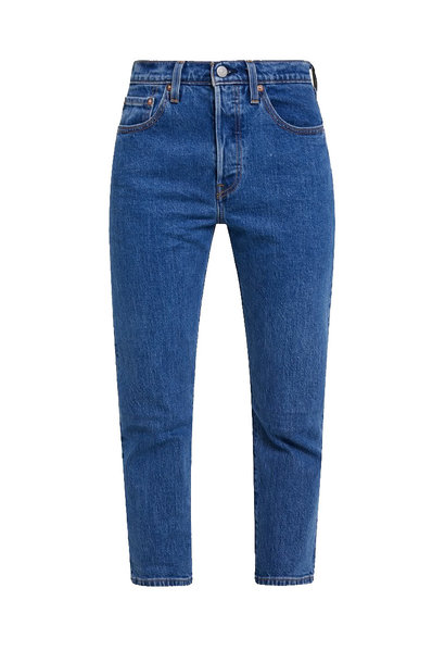 LEVI'S 501 STRETCH CROPPED JIVE STONEWASH- MEDIUM WASH