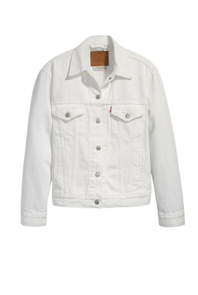 LEVI'S EX BF TRUCKER WHITE CELL