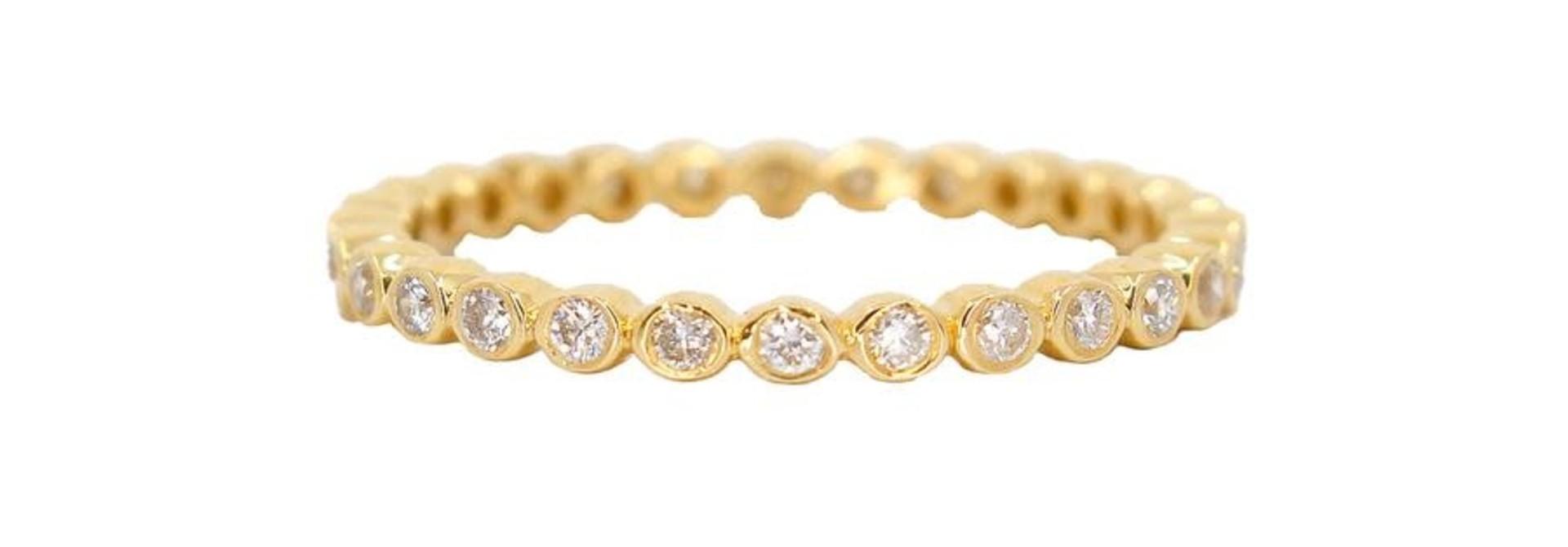 MMJ 14K ROSE GOLD DIAMOND RING