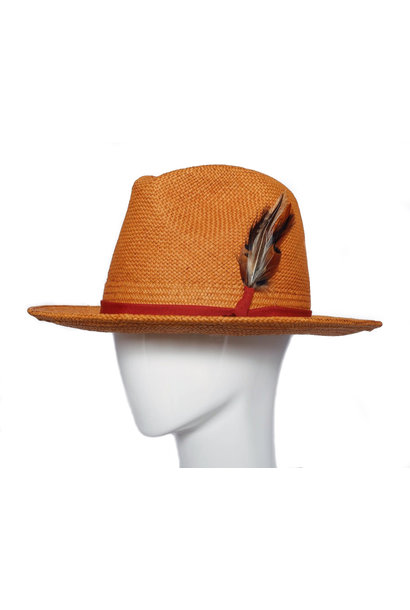 SCORCH ORANGE FEDORA