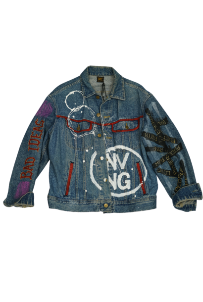 """BAD IDEAS"" CUSTOM DENIM JACKET"