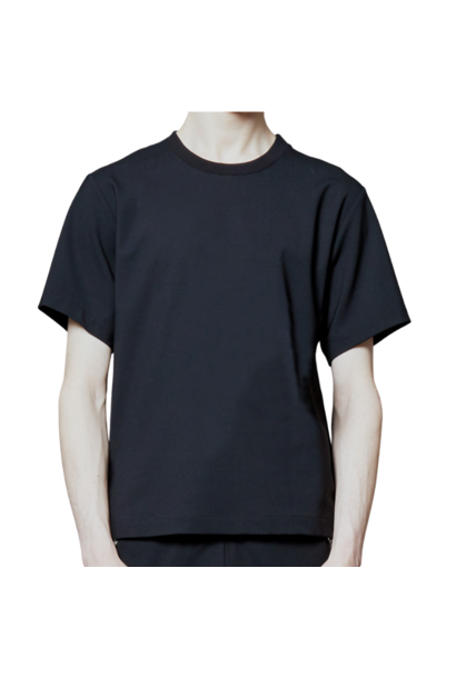 BLACK ZIPPER TEE