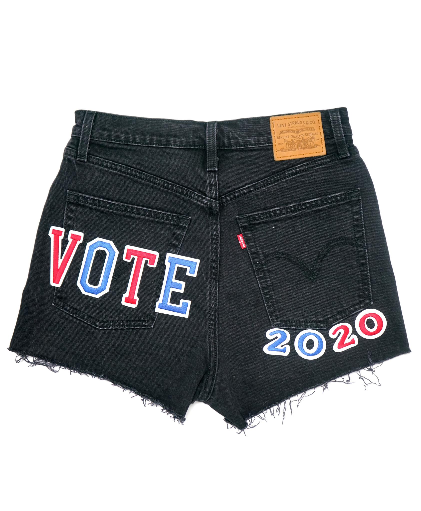 LEVI'S  VOTE RIBCAGE SHORTS 77879-0052 BLACK BAYOU-3