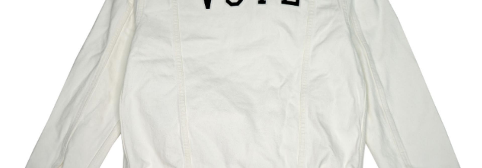 LEVI'S VOTE EX BF TRUCKER WHITE CELL