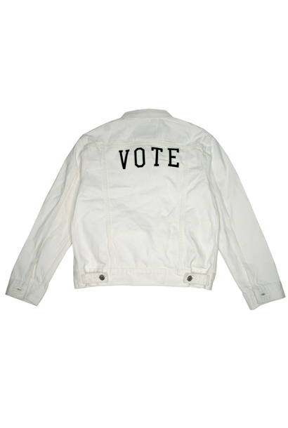 LEVI'S VOTE EX BF TRUCKER WHITE CELL