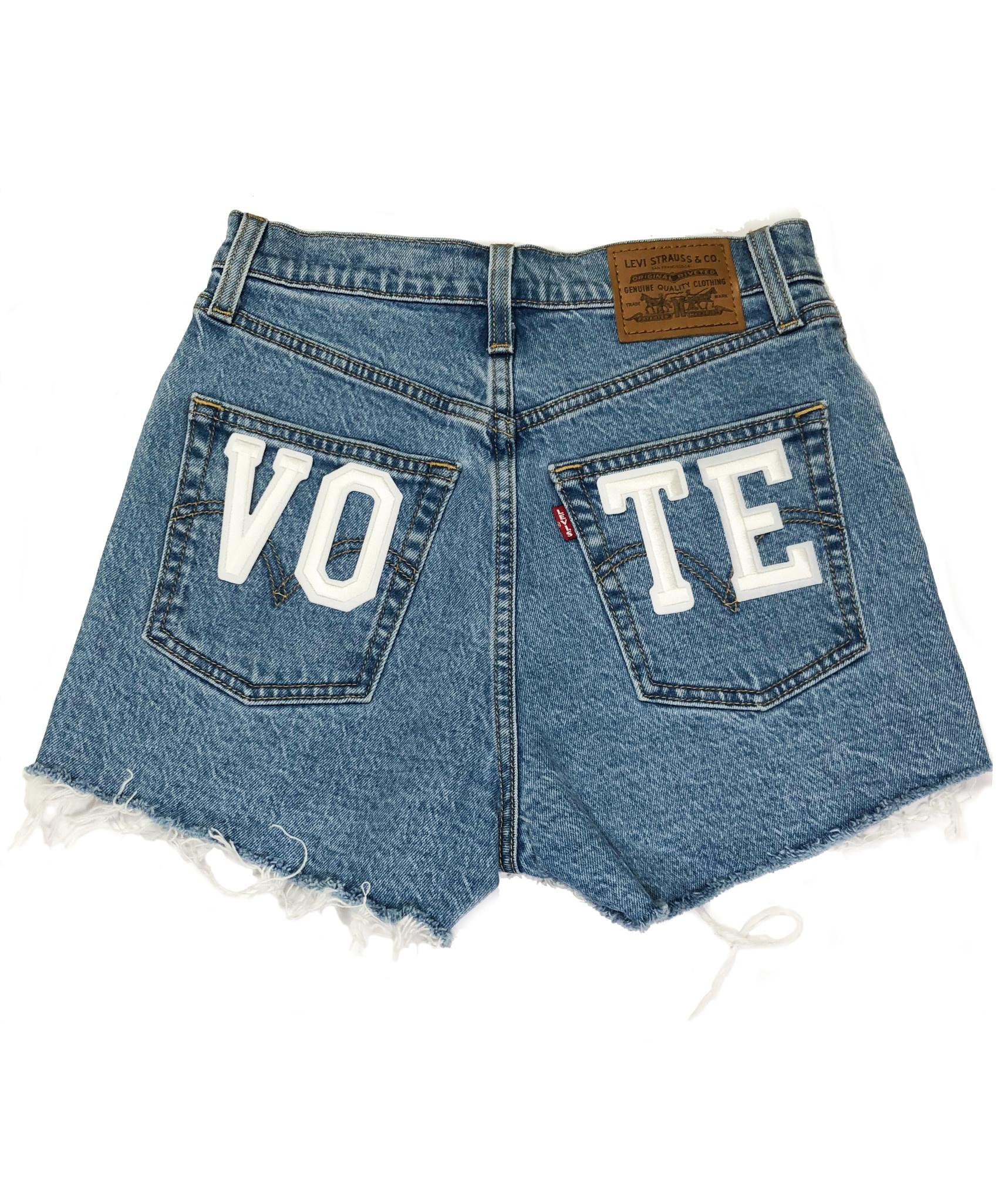 LEVI'S VOTE RIBCAGE SHORTS 77879-0005 TANGO STONEWASH-1