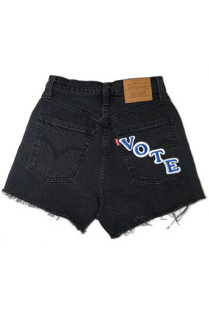 LEVI'S  VOTE RIBCAGE SHORTS BLACK BAYOU