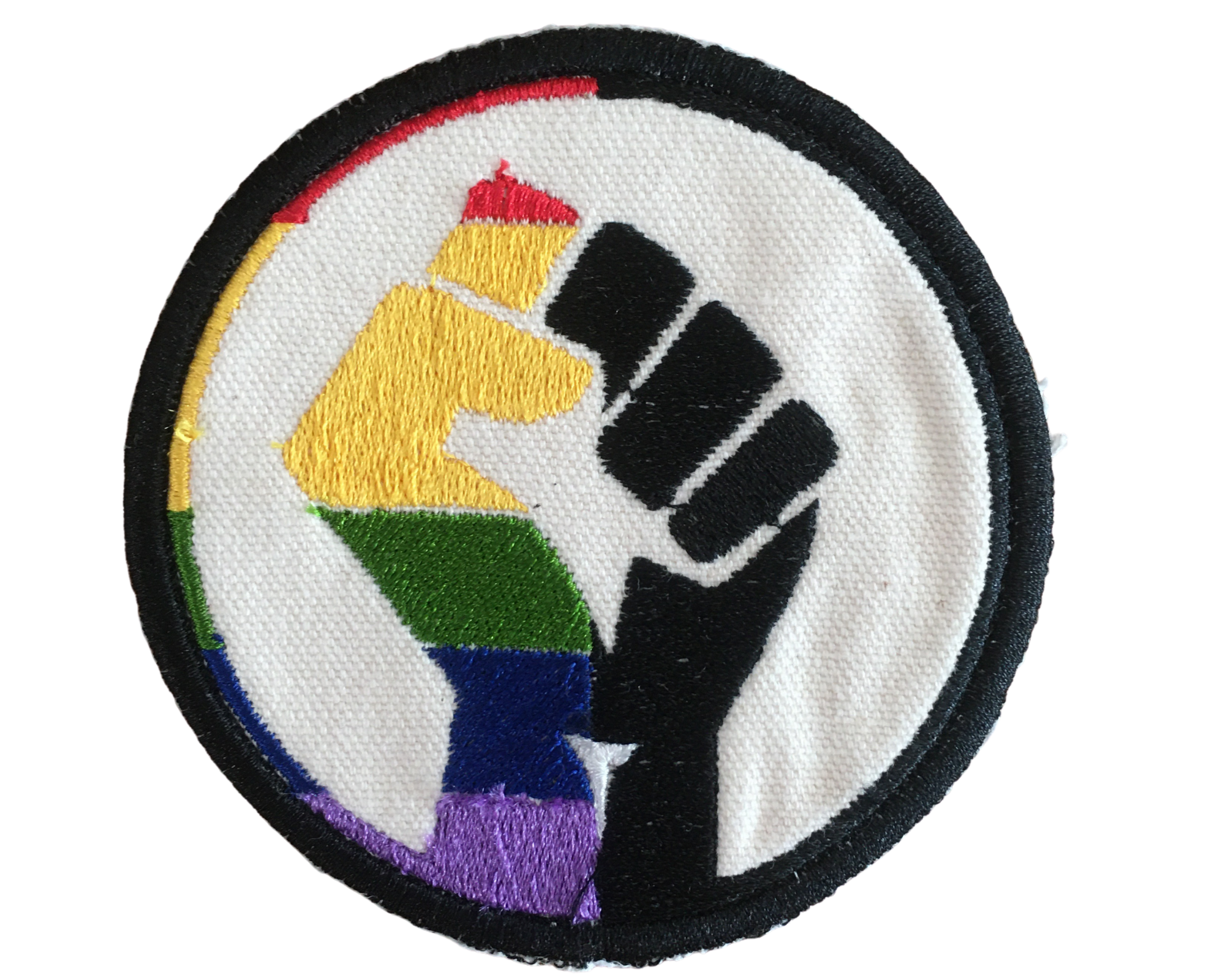 POPIN JULIA LGBT BLACK LIVES MATTER CIRCLE PATCH-1