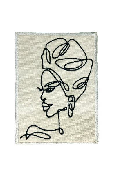 LADY PROFILE LINE ART PATCH
