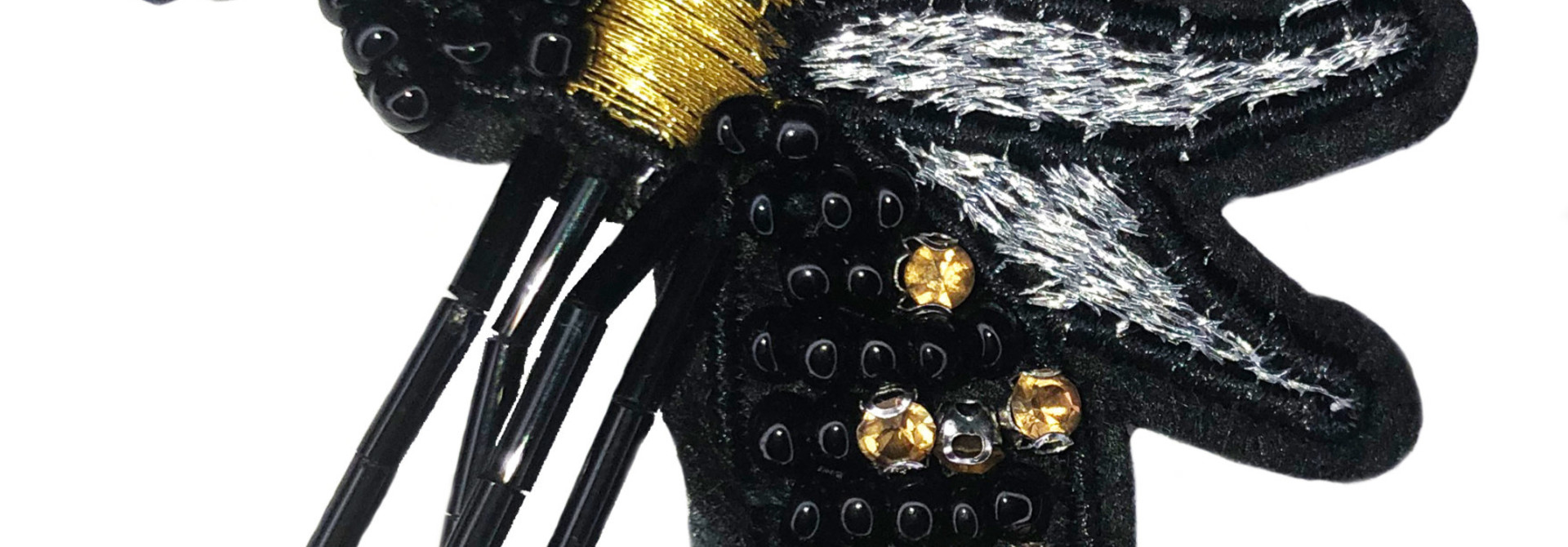 THE SHOP BEADED WASP SEW ON PATCH