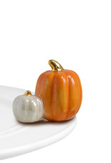 Nora Fleming pumpkin spice (two pumpkins)