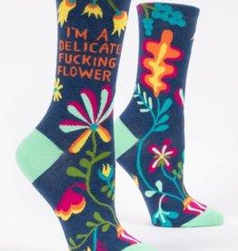 Blue Q Socks, Delicate Flower