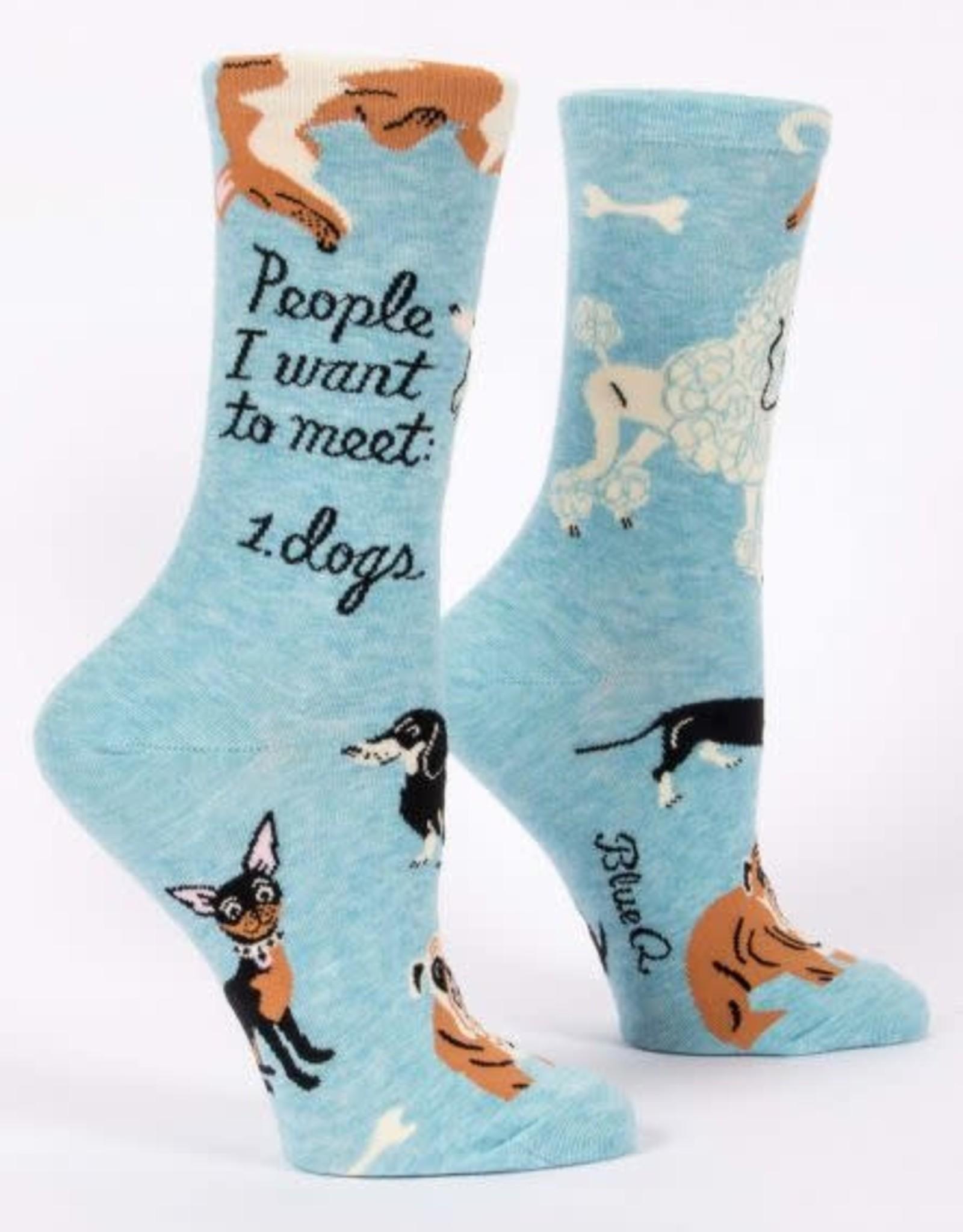 Blue Q People I Want To Meet Socks