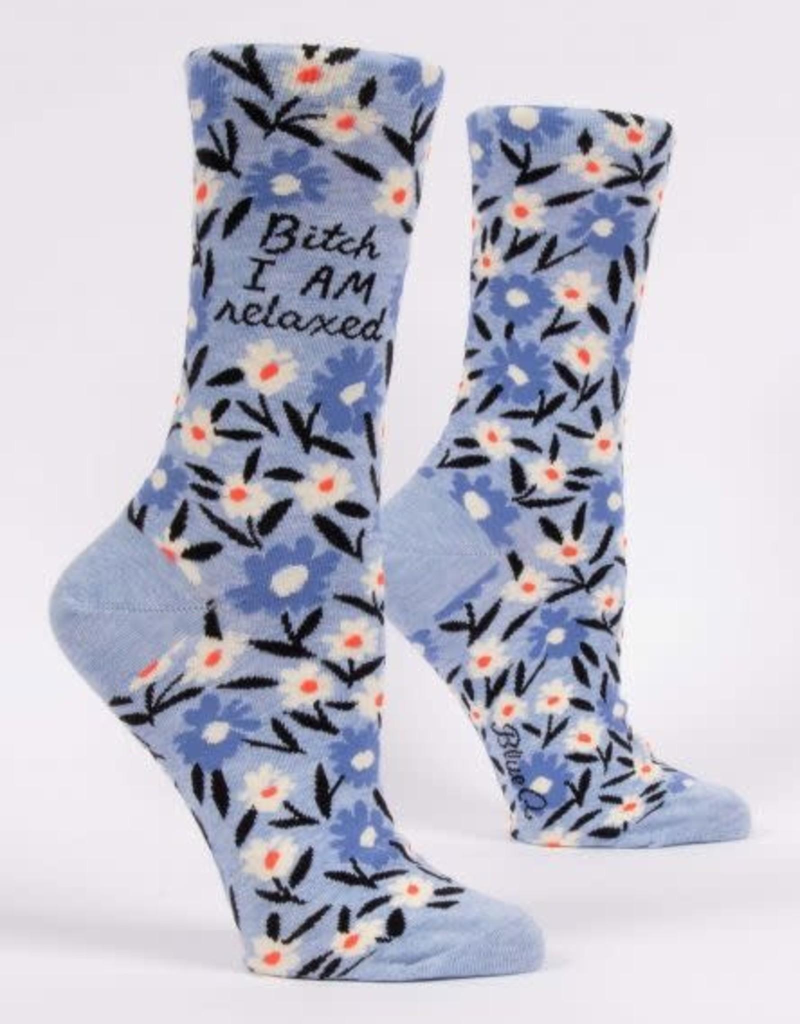 Blue Q Bitch I Am Relaxed Socks