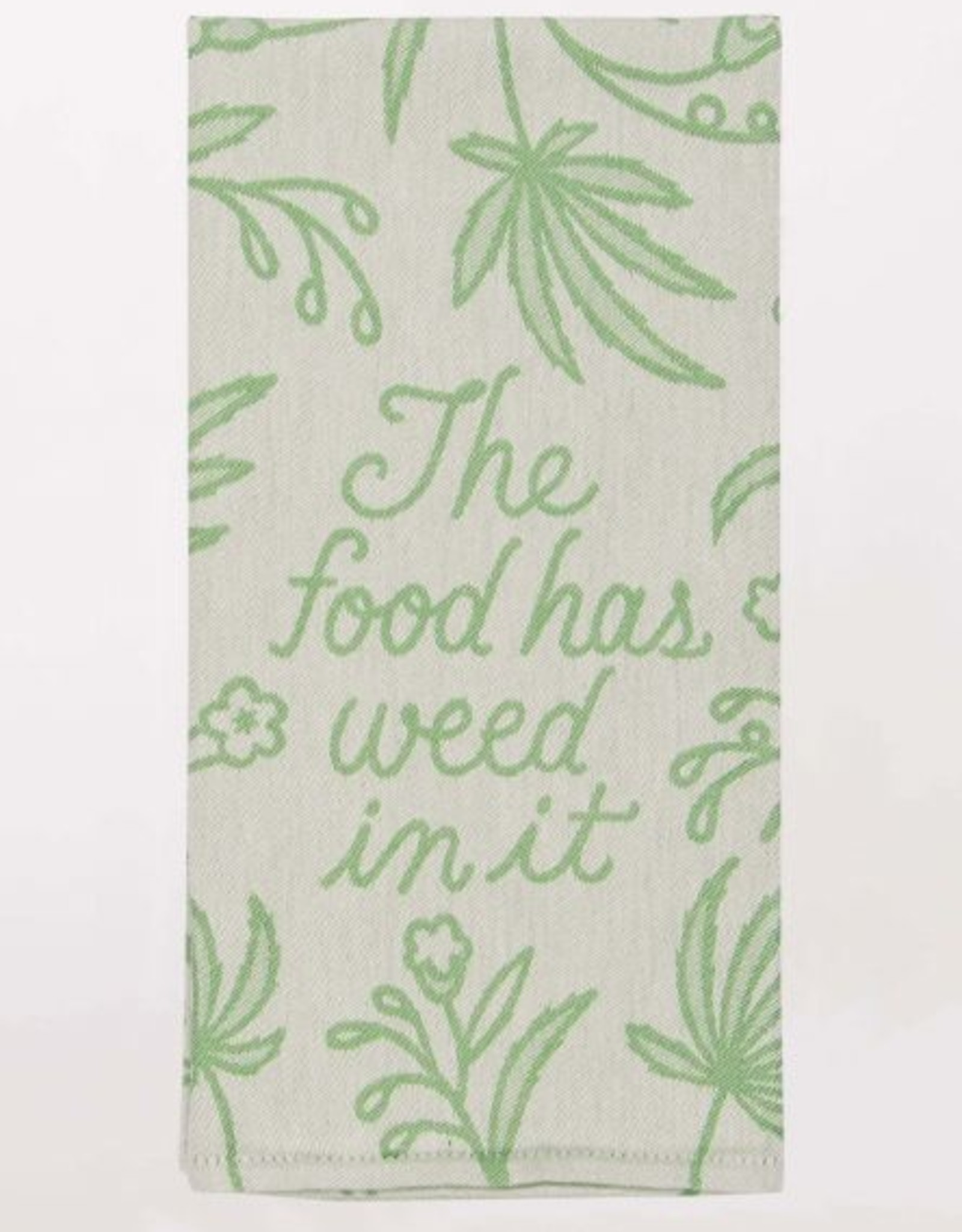 Blue Q Food Has Weed Dish Towel