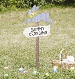 Bunny Crossing Garden Stake