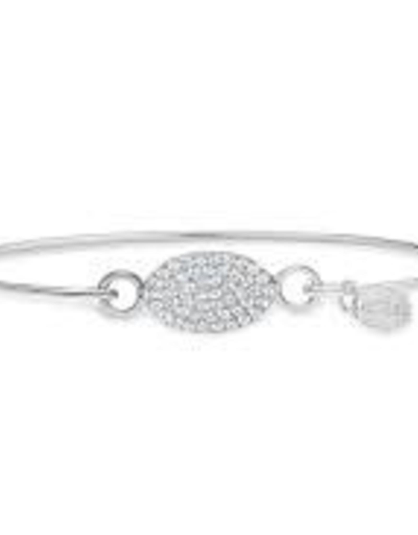 Stia Jewelry Pave Icon Bracelet - Oval
