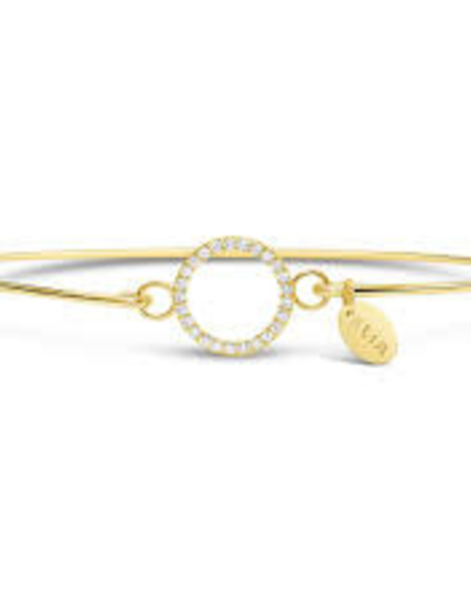 Stia Jewelry Pave Icon Bracelet - Circle