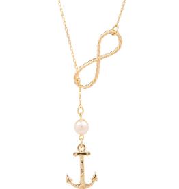 Kiel James Patrick Infinity Anchor Necklace
